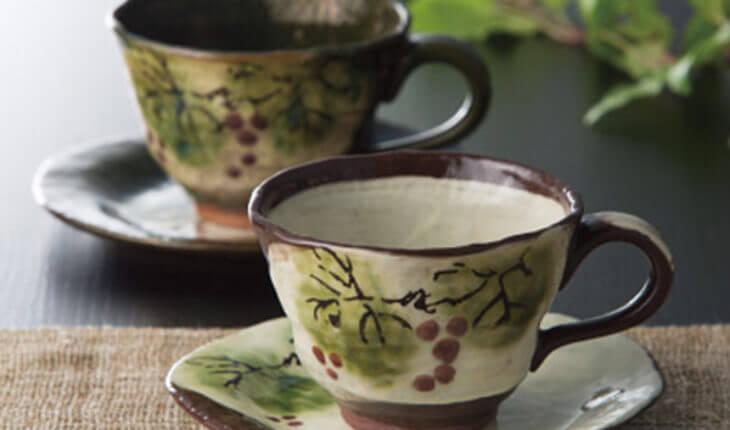 瀬戸焼のコーヒーカップの画像