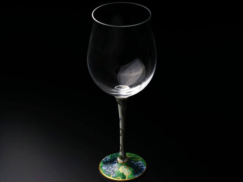 福泉窯の有田焼のワイングラス