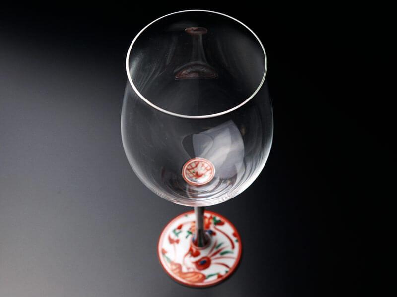 有田焼ワイングラスの画像