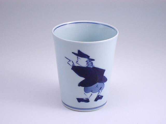 しん窯の異人ミルクカップ