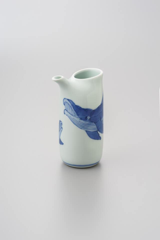 渓山窯のくじらの花瓶の画像