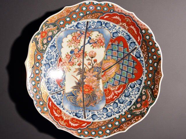 献上手古伊万里様式の絵皿