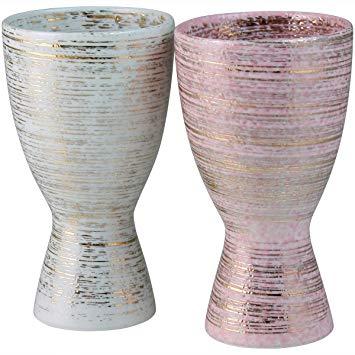 陶悦窯のタンブラーとペアカップの画像