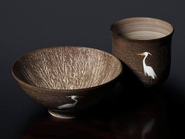 臥牛窯の茶碗と湯呑