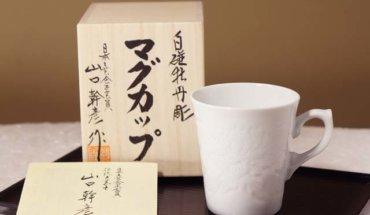 白磁の有田焼マグカップ