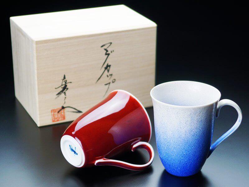 【有田焼】ペアマグカップ 燿変2色