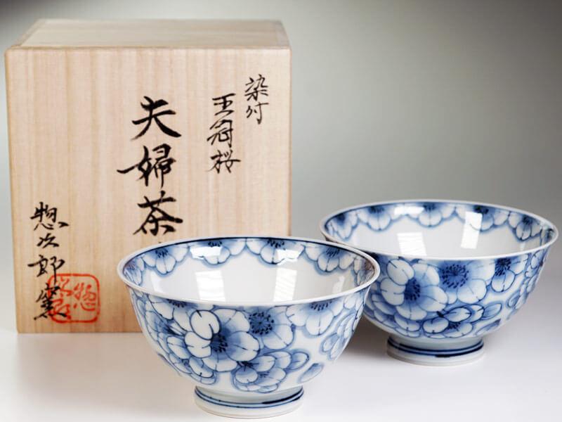 夫婦茶碗 王冠桜