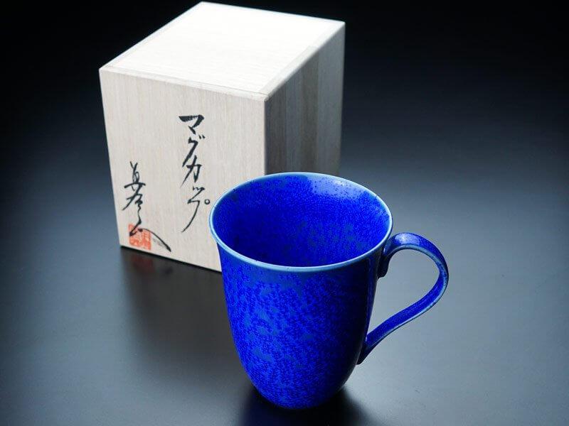 【サファイヤ婚式のプレゼント】マグカップ 瑠璃水滴