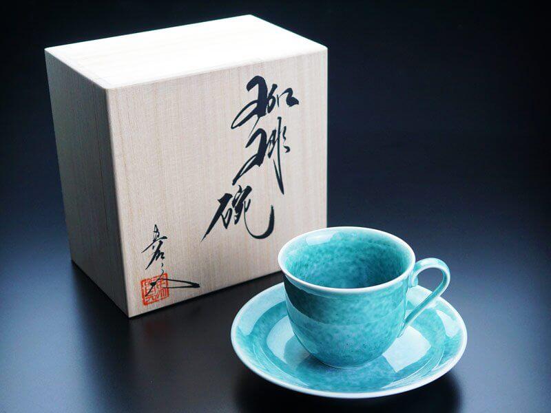 エメラルド色の高級プレゼント 翡翠鈞窯コーヒーカップ