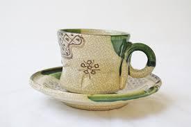 赤津焼のコーヒーカップ